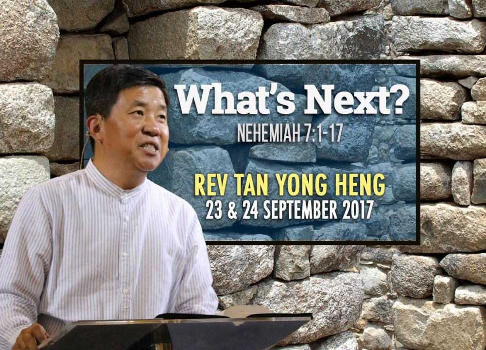 Rev Tan Yong Heng - What's Next?