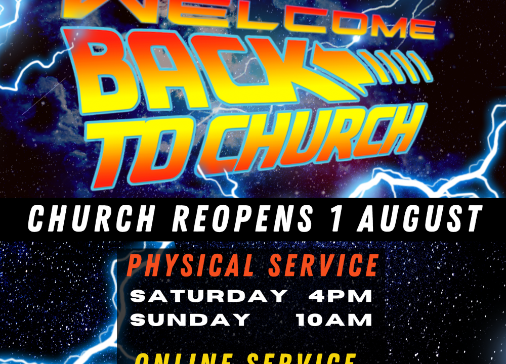 Church reopens 1 Aug 2020